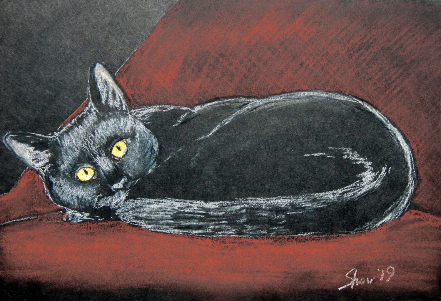 The Friday Artwork Cat: Oliver & Nubia!  The Friday Artwork Cat: Oliver & Nubia! 2 15 1500x1024