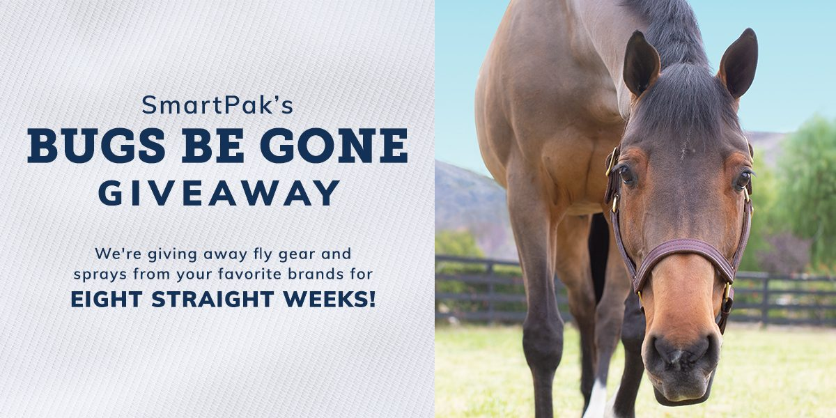 SmartPak's Bugs Be Gone Sweepstakes: Week 1  SmartPak's Bugs Be Gone Sweepstakes: Week 1 032920 BugsBeGoneGiveawayHeader 1200x600