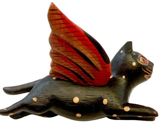 Giveaway: Handcarved Flying Tortie Cat  Giveaway: Handcarved Flying Tortie Cat small cat e1606923876189